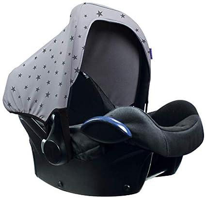 Original Dooky Hoody Sonnenschutz f/ür Babyschalen der Altersgruppe 0 inkl UV-Schutz 40 Universal geeignet f/ür die meisten Marken schwarz