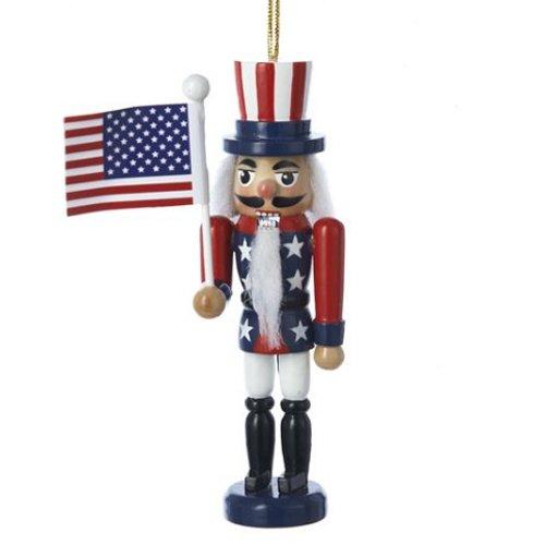 Kurt Adler American Flag Nutcracker Christmas Ornament ()