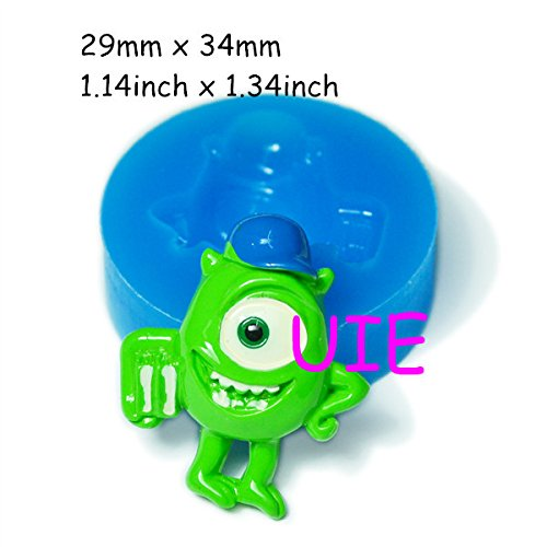 161LBP Green Eyed Monster Silicone Mold 34mm - Cake Decorations Fondant Bakeware Candy Mold, forma de silicone Cookies Mold