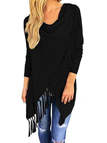 Yidarton-Womens-Casual-Asymmetric-Tassels-Cardigan-Pullover-Sweater-Shawl-Coat