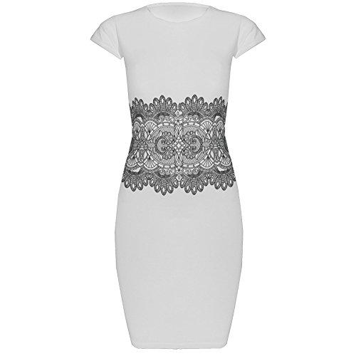 cream lace mini dresses - 5