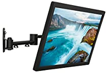 """Mount-It! LCD TV Wall Mount Bracket with Full Motion Swing Out Tilt and Swivel Articulating Arm for 13-42"""" Flat Screen Displays with VESA 75 to 200, 44lb Weight Capacity WITH 18"""" EXTENSION"""