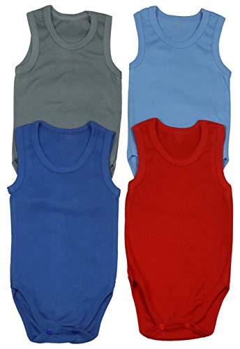 ToBeInStyle Baby Boys' 4 Pack Tank Top Bodysuit Onesies - Cool - 3-6 Months