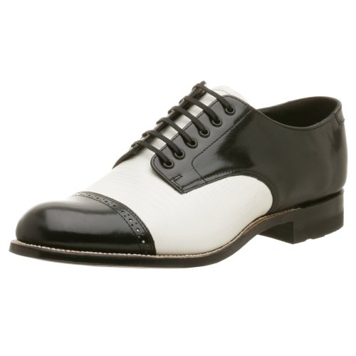 Stacy Adams Men's Madison Lizard Print Oxford,Black w/White,11 M (Black And White Stacy Adams Shoes)