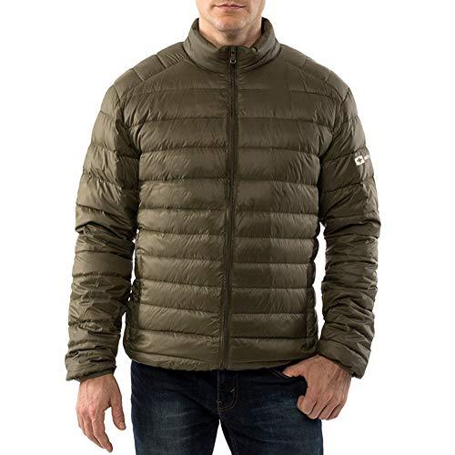 alpine swiss Niko Mens Down Jacket Puffer Coat Packable Warm Insulation & Light GRN 1XL Green