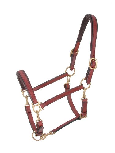 Leather Grooming Halter - Tough 1 Royal King 4-Way Stable/Grooming Halter, Brown