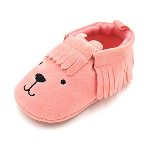Prevently Baby Bear Fringe Soft Kleinkind Schuhe Kleinkind Schuhe Neugeborenen Baby Kleinkind Baby Mädchen Jungen Schuhe Bear Tassle Soft Slip Schuhe Rosa