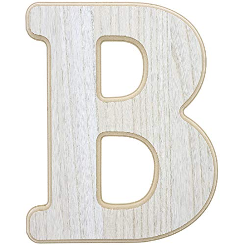 Unfinished Wood Letter B Cutout for DIY Painting, Crafts, and Wall Decor, 9.5 x .5 x 12 Inches (12 Inch Wooden Letters)