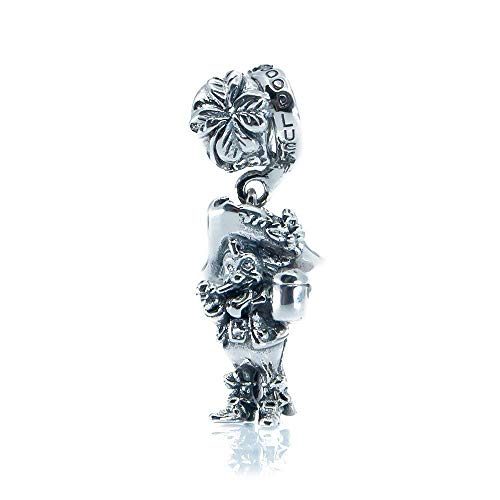 Irish Leprechaun Sterling Silver Dangle Charm, Good Luck St Patricks Day Jewellery