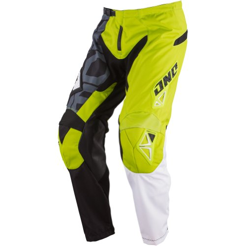 One Industries Carbon Cypher Men's Dirt Bike Motorcycle Pants - Black/Chartreuse / Size 30