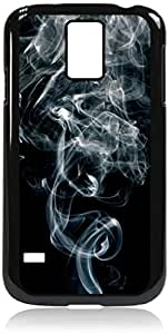 Smoke- Case for the Galaxy S5 i9600- Hard Black Plastic Snap On Case with Soft Black Rubber lining