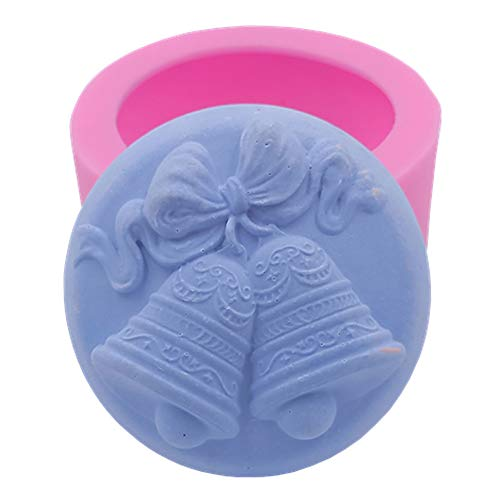 Great Mold 3D Christmas Bells Silicone Soap Mold for Soap Making, Candy Mold Chocolate Mold DIY Cake Mold (Bell Mold 01) ()