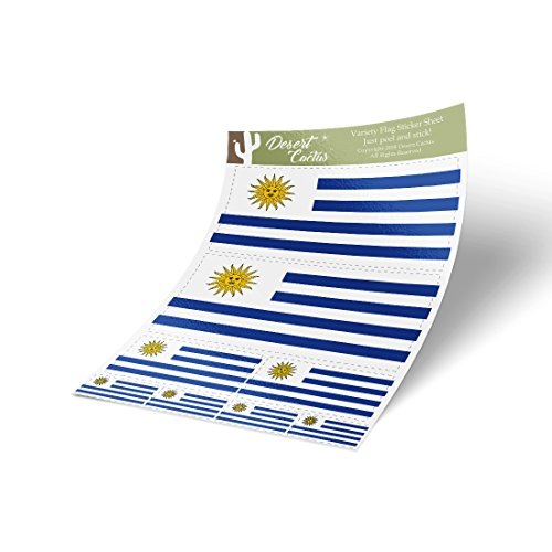 Desert Cactus Uruguay Country Flag Sticker Decal Variety Siz