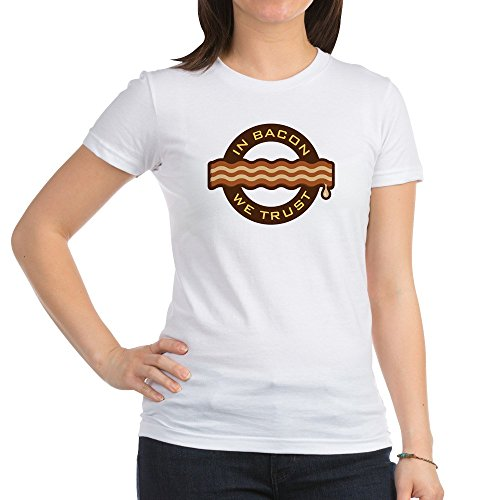 Royal Lion Jr. Jersey T-Shirt In Bacon We Trust Bacon Lover Foodie - White, Medium ()