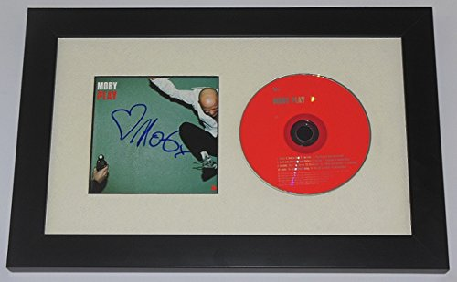 Moby Play Authentic Signed Autographed Music Cd Compact Disc Cover Custom Framed Loa