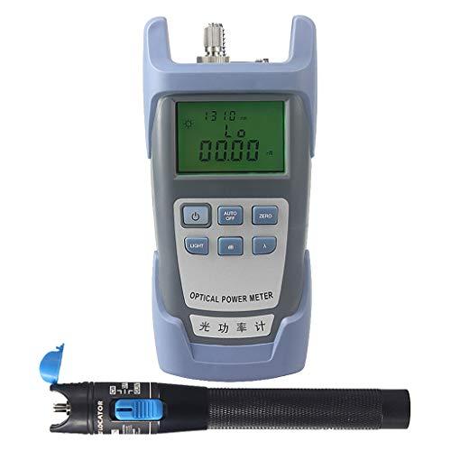 SM SunniMix AUA-9-70dBm~+10dBm 850~1625nm Optical Power Meter Tester FC SC Handheld Optical Power Meter + with 1mW Visual Fault Locator Pen Tools by SM SunniMix (Image #6)