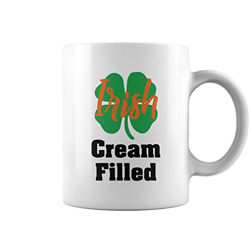 Irish Cream Filled Mug (White, 11Oz) Gifts for Irish St Patricks Day