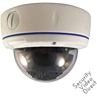 SVD 800TVL Outdoor Dome Camera 1/3 SONY Super HAD II CCD 2.8-12mm Varifocal Lens Dual Voltage 18pcs Infrared LEDs WDR Wide Dynamic Range OSD Control Weatherproof
