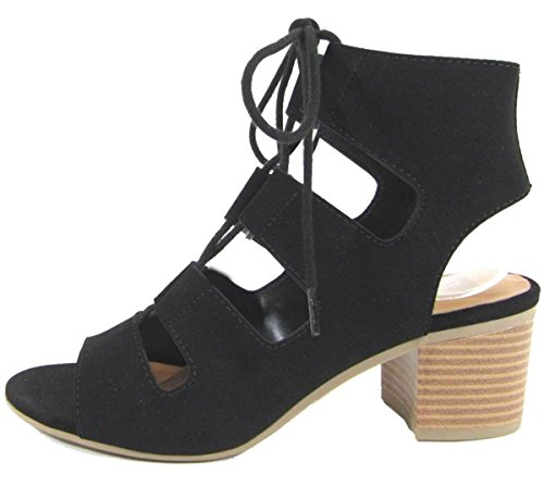 city-classified-womens-cutout-lace-up-stacked-chunky-heel-sandal