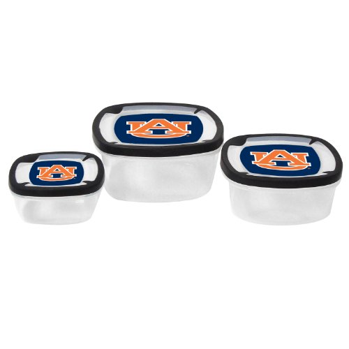 NCAA Auburn Tigers Nesting Square Container, 3-Piece - Auburn Square