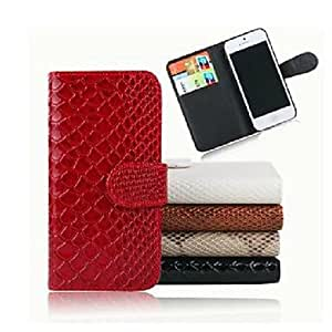 LZXSnake Skin Pattern PU Leather Full Body Case for iPhone 5/5S(Assorted Color) , Gray and White