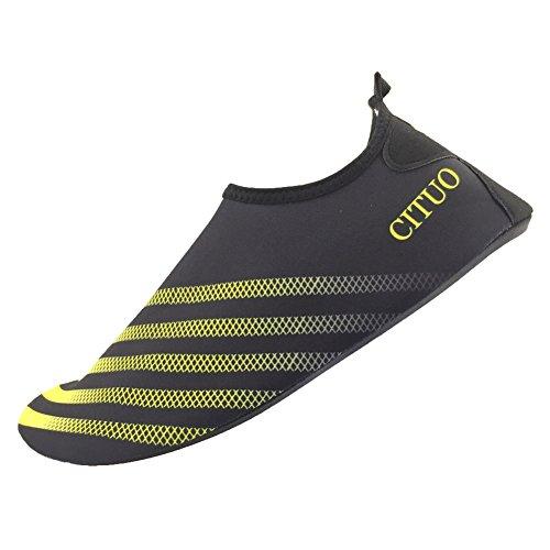 SENFI leichte Quick-Dry Wasser Schuhe für Wassersport Strand Pool Camp (Männer, Frauen, Kinder) S. Gelb