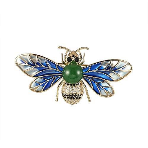 CHOMAY Brooches and Pins Zirconia Setting Jade Rhinestone Modern Brooch Jewelry Bee