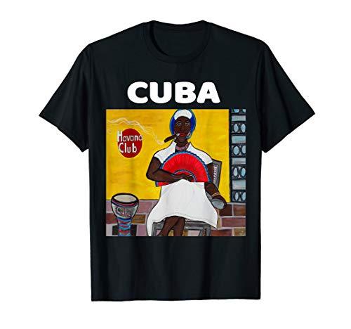 Black Afro Cuban Lady Fan Drum Cuban