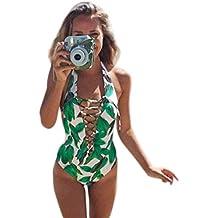 Boyiya Women One Piece Monokini Swimsuit Push Up Bathing Suit Bikini Swimwear