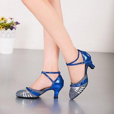 XIAMUO Nicht anpassbar - Die Frauen tanzen Schuhe Leder/Lack Leder Leder/Lack moderne Heels kubanischen HeelPractice/Beginner/, Lila, Us8.5/EU39/UK6.5/CN4