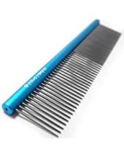 Paws Pamper Greyhound Comb for Dogs and Cats - Longer Teeth, Wider Handle - More Satisfying Grooming Sessions for Pets - Less Hand Strains for Owners