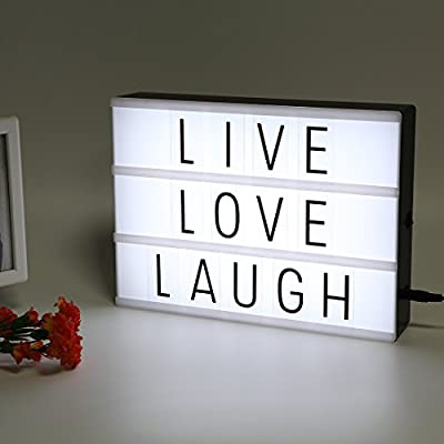 LITENERGY A4 Size Cinematic Light Up Box with Letters and LED Light