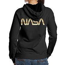 Women NASA Gold Logo Hoodies