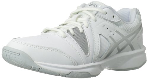 ASICS Gel-Gamepoint GS Tennis Shoe ,White/Silver/White,6 M U