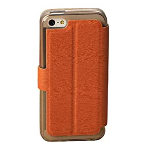 Bark Texture Leather Full Body Case for iPhone 5C(Assorted Color) --- COLOR:Brown