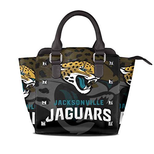 Aoskin Custom Jacksonville Jaguars Women's Luxury Rivet Leather Handbag Shoulder Tote Bag,Women Shoulder Bags Satchel Purse
