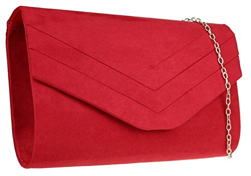 materiale rossa in sintetico donnaBorsa donna da per Borse Okn0P8w