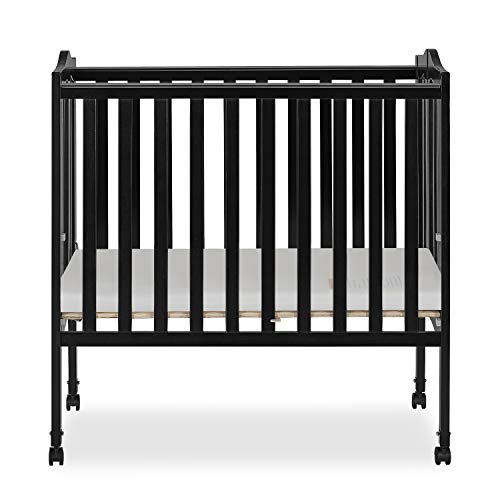 Dream On Me 2 in 1 Lightweight Folding Portable Stationary Side Crib ()