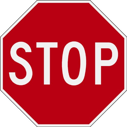 """TDS Reflective Red & White 12"""" Octagon Aluminum Stop Sign"""