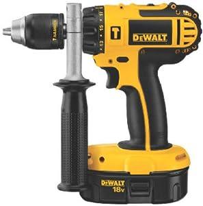 Black & Decker/Dewalt Dc725ka Cordless Compact Hammer Drill Kit, 1/2-In., 18-Volt, 2-Speed, Led Worklight Cordless Drill by Black & Decker/Dewalt