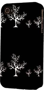 Black & White Tree Pattern Dimensional Case Fits Apple iPhone 5 or iPhone 5s