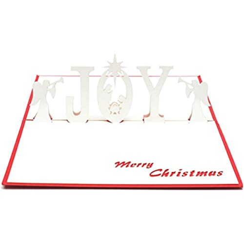 Paper Spiritz 3D Pop Up Greeting Card Handmade NATIVITY JESUS & JOY Angel Birthday Valentine's Anniversary Easter Sales