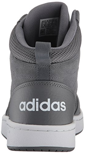 adidas Neo Men's CF Super Hoops Mid Basketball-Shoes, Grey Four/Grey Four/Crystal White, 9 Medium US