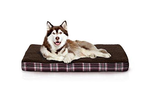 Furhaven Orthopedic Mattress Pet Bed, Jumbo, Java Brown, for