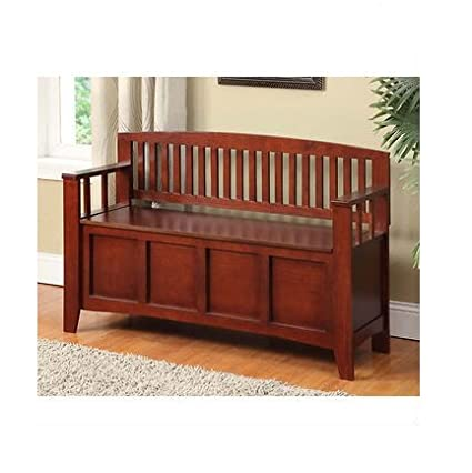 Genial Decorative Storage Bench, Solid Wood Seating Benches Entry Way Furniture,  Living Room Or Hall