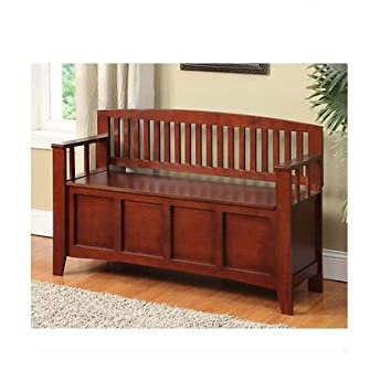 Amazon.com: Decorative Storage Bench, Solid Wood Seating Benches ...