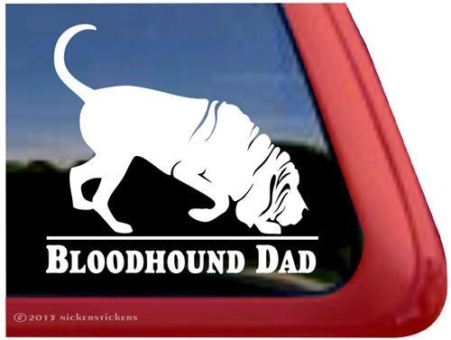Bloodhound Dad ~ Bloodhound Vinyl Window Auto Decal Sticker ()