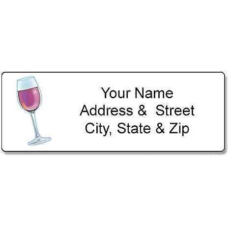 Amazon com : Wine Address Label - Customized Return Address