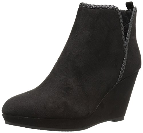 CL by Chinese Laundry Women's Volcano Ankle Bootie, Black Suede, 7.5 M US