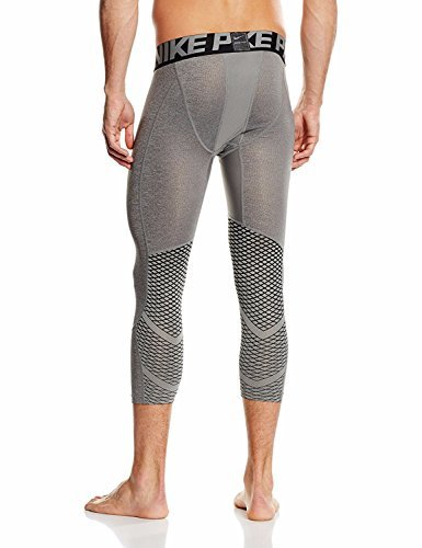 Nike Men's Pro Hypercool 3/4 Training Tights Red (Large, Heather/Grey/Grey/Black/Black)